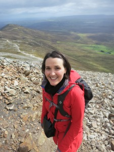 Photo of the author near the summit of Croagh Patrick.