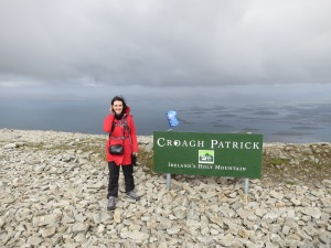 Photo of the author at the summit of Croagh Patrick, September 2013.
